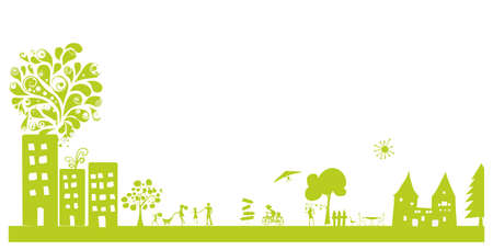 modern green landscape