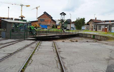 train depot with rotating platform