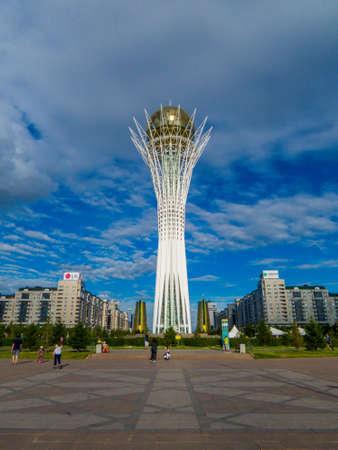 ASTANA, KAZAKHSTAN - JUNE 24, 2018: View of the Baiterek Tower.