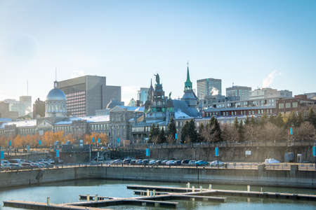 Old Port and city skyline - Montreal, Quebec, Canada