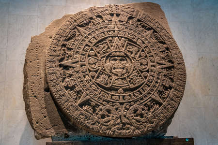 Photo for The Aztec Sunstone at The National Museum of Anthropology (National Museum of Anthropology, MNA) - Mexico City, Mexico - Royalty Free Image