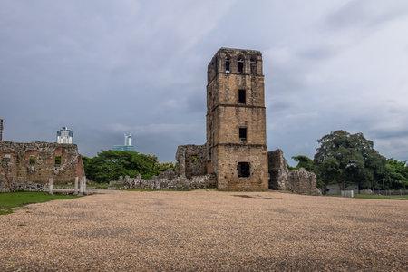 Ruins of Cathedral Tower at Panama Viejo Ruins - Panama City, Panama