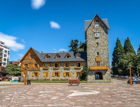 Civic Center (Centro Civico) and main square in downtown Bariloche City - San Carlos de Bariloche, Argentina
