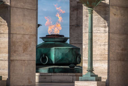 The Flame of National Flag Memorial - Rosario, Santa Fe, Argentina
