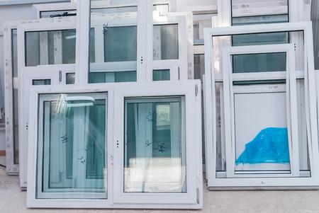 Foto de PVC Window and Door Production, Window manufacturer, Factory Interrior - Imagen libre de derechos