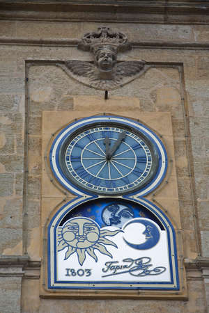 Clock of the town hall, Alcala La Real, Jaen province, Andalusia,  Spain
