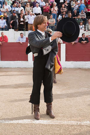 The spanish bullfighter Manuel Benitez El Cordobes at the paseillo or initial parade, Linares, Jaen province, Spain, 15 march 2009