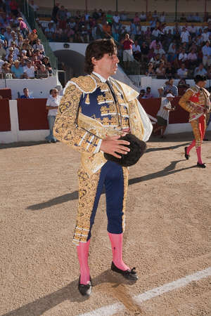 The spanish bullfighter Curro Diaz at the paseillo or initial parade, Linares, Jaen province, Spain, 28 september 2010