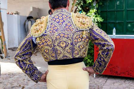 Detail of the traje de luces or bullfighter dress