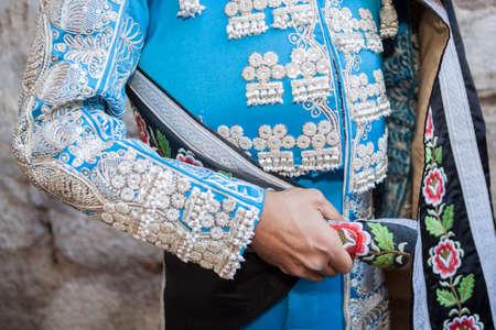 Detail of the traje de luces or bullfighter dress, Spain