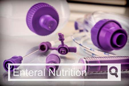 Foto de Search in the Enteral Nutrition Team network, Palliative Care, Conceptual Image, horizontal composition - Imagen libre de derechos