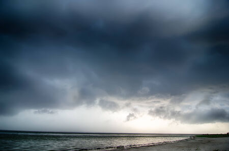thunderstorm cloud structure ove pamlico sound at obx
