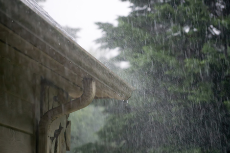 heavy rain pouring down from passing storm