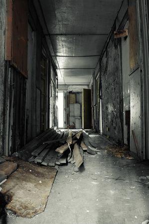 Corridor in Abandoned Building