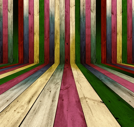 Multicolored Wooden Room As Background