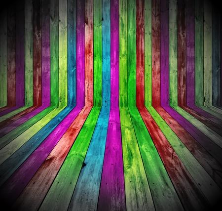Vibrant Wooden Room