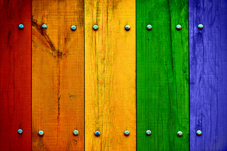 Photo for Bright Multicolored Wood Planks - Royalty Free Image