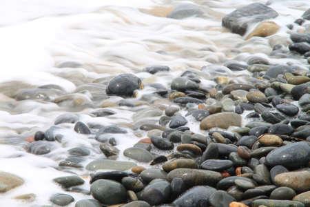 Water retracting from stones