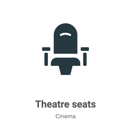 Illustration pour Theatre seats vector icon on white background. Flat vector theatre seats icon symbol sign from modern cinema collection for mobile concept and web apps design. - image libre de droit