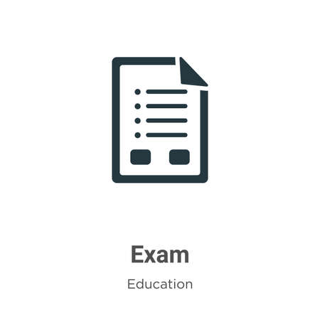 Illustration pour Exam vector icon on white background. Flat vector exam icon symbol sign from modern education collection for mobile concept and web apps design. - image libre de droit