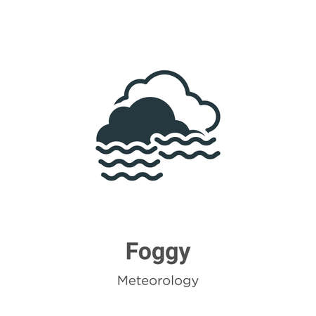 Illustration pour Foggy vector icon on white background. Flat vector foggy icon symbol sign from modern meteorology collection for mobile concept and web apps design. - image libre de droit