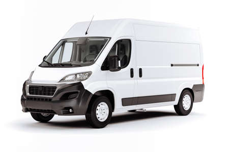 Photo for 3d render of white van vehicle on white background - Royalty Free Image
