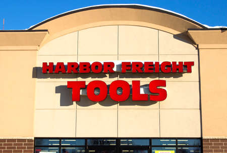 Eau CLAIRE,WISCONSIN-FEBRUARY 02,2014: Harbor Freight Tools storefront in Eau Claire,Wisconsin on February 02,2014