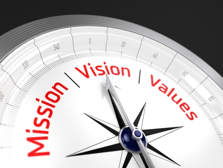 Photo for Mission Vision Values | Compass - Royalty Free Image