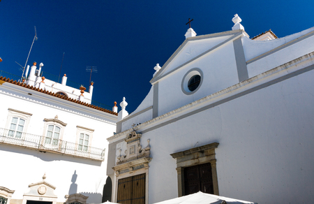 The St Vincent church in the historical center of Evora, Portugal
