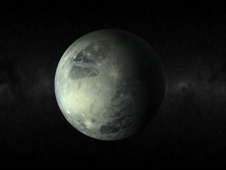 3d rendering of the planet pluto