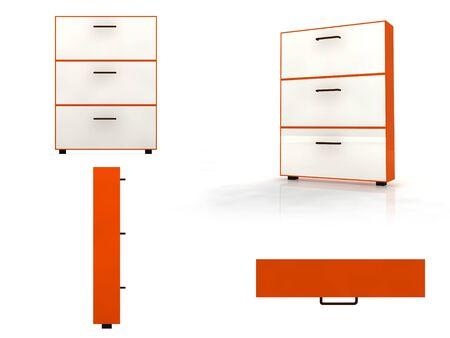 3d illustration of some furniture for interior design