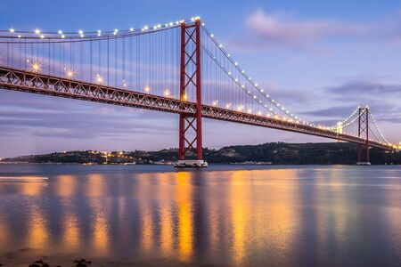 The iconic red bridge in Lisbon