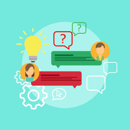 Illustration pour FAQ problem question icon solution vector. Isolated ask creative concept doubt service answer. Knowledge mark help business advice text. Frequently assistance helpdesk. Know how information support. - image libre de droit