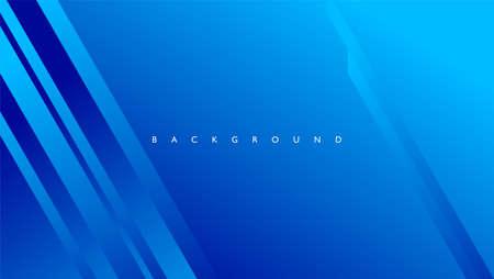 Ilustración de Abstract background with rectangle lines in blue color - Imagen libre de derechos