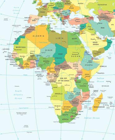 Illustration pour Africa map - highly detailed vector illustration. - image libre de droit