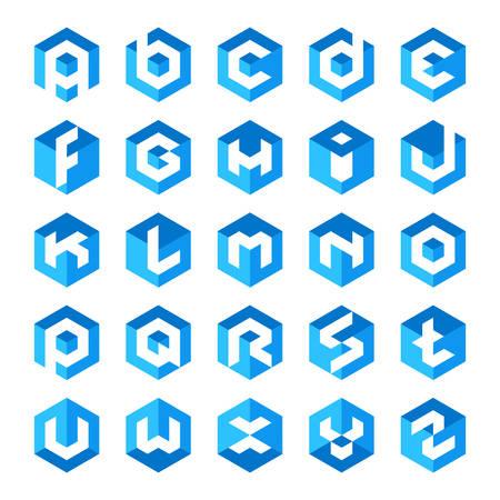 Illustration pour Alphabet cube letter Logos - image libre de droit