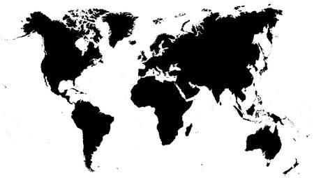Illustration pour Black World Map - illustration - image libre de droit