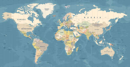 Photo for World Map Vector. High detailed illustration of worldmap - Royalty Free Image