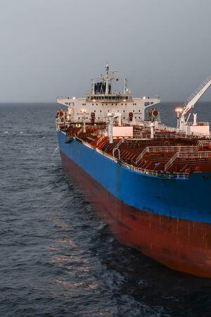 Foto de The oil tanker in the high sea - Imagen libre de derechos