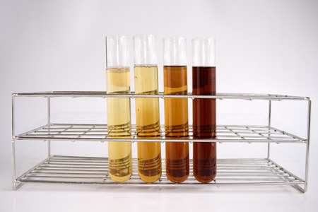 Diluted reagent in test tube