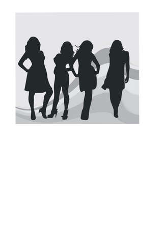career woman silhouette