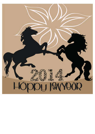 silhouette of a happy new year  2