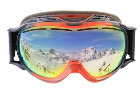 ski goggles on white background isolated