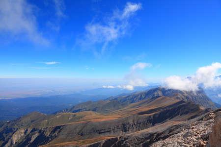 tops of the rocky ridge. caucasus