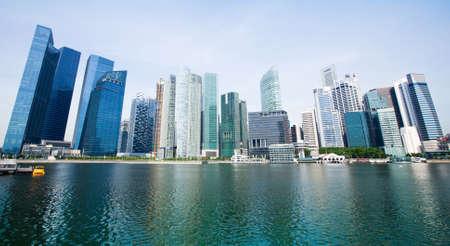 Wide Panorama of Singapore City