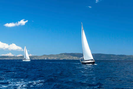 Sailing regatta. Luxury yachts.