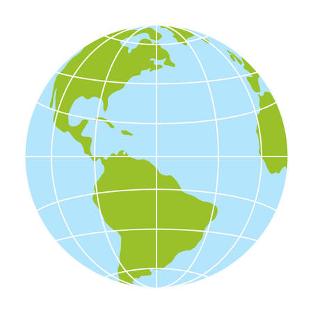 A world globe icon. vector earth logo. web global symbol with grid