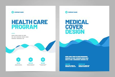 Illustration for Template design with abstract background for medical layout. Vector design A4 size for poster, flyer, cover or background. - Royalty Free Image