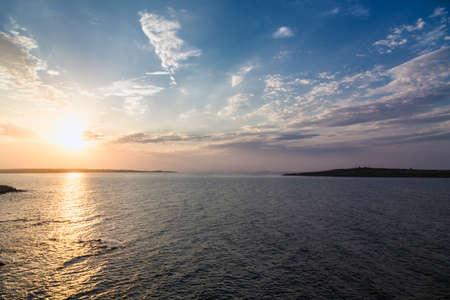 Photo pour sea sky sunset sun landscape - image libre de droit