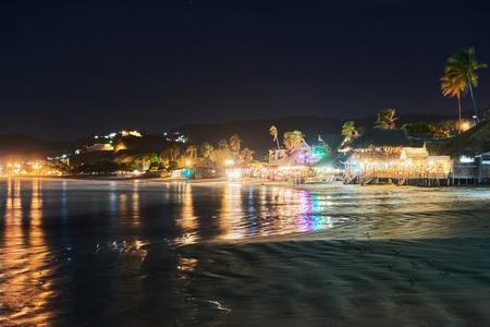 lights of restourants in resort san juan del sur